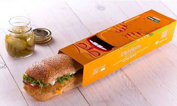 طراحی جعبه ساندویچ در از بالا