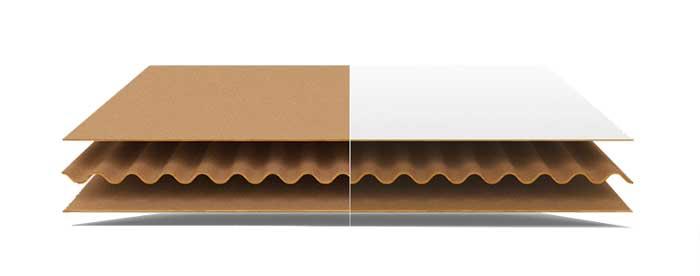 Three layer carton