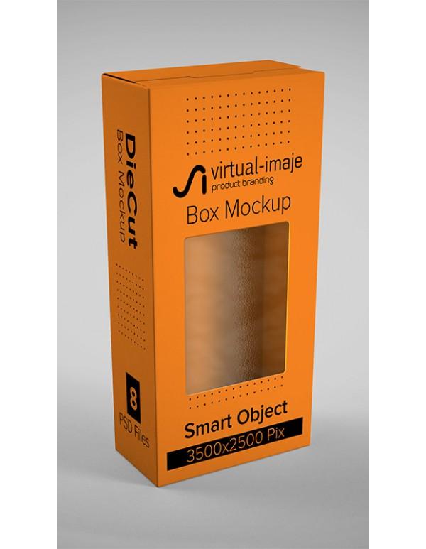 طراحی و چاپ جعبه با قالب پنجره دار