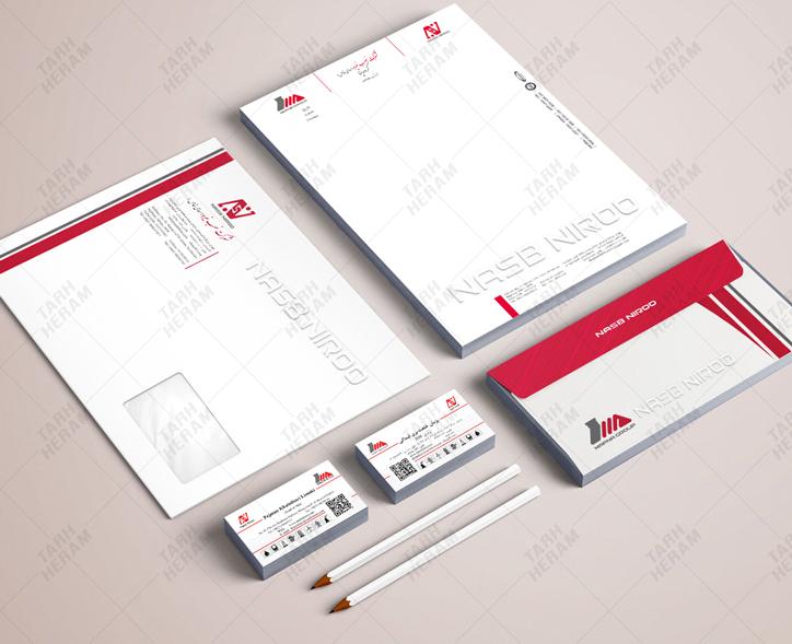 طراحی ست اداری شرکت مپنا