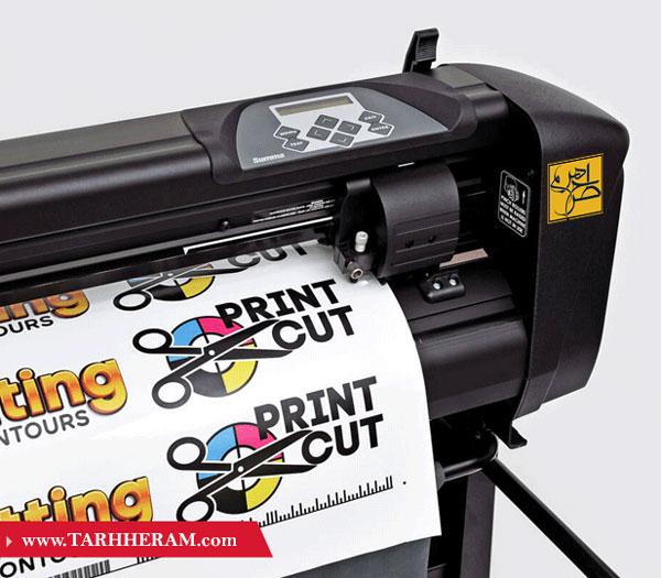 چاپ دیجیتال لیبل و برش لیبل با کاتر پلاتر
