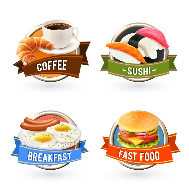 لیبل مشخص کننده نوع غذا