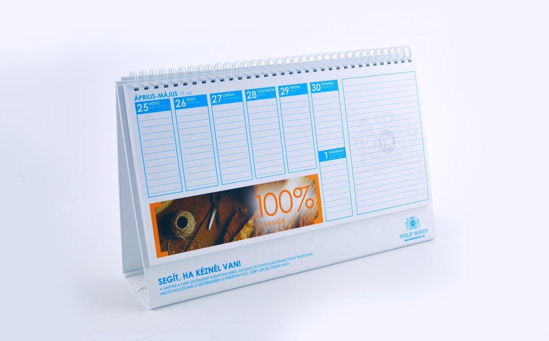 تقویم رومیزی با کاغذ کتان