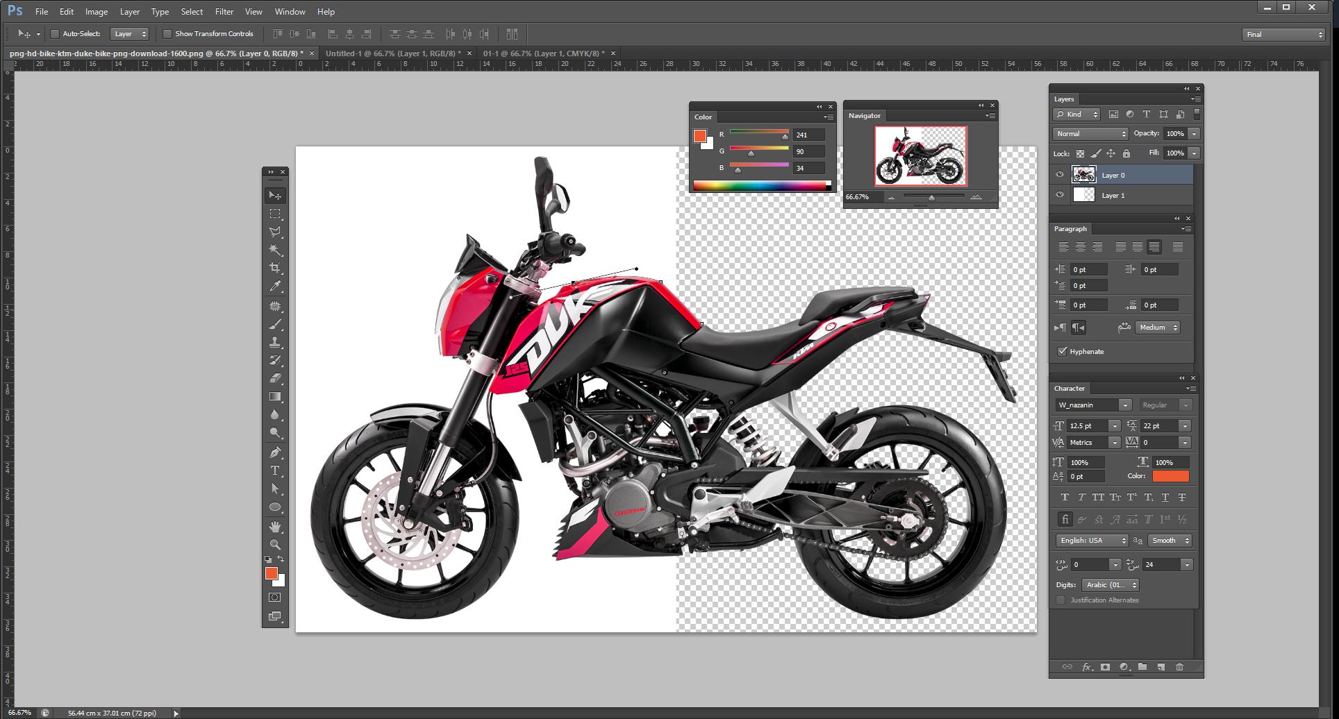دور بری و اصلاح رنگ عکس محصولات برای چاپ