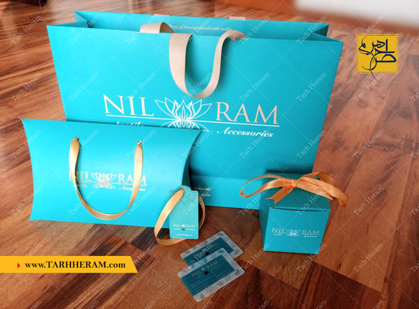 پروژه طراحی و چاپ پکیج فروشگاهی مزون لباس نیلرام