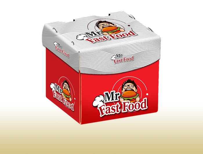 جعبه بیرون بر برگر مدل مربعی  |  TF - 1001