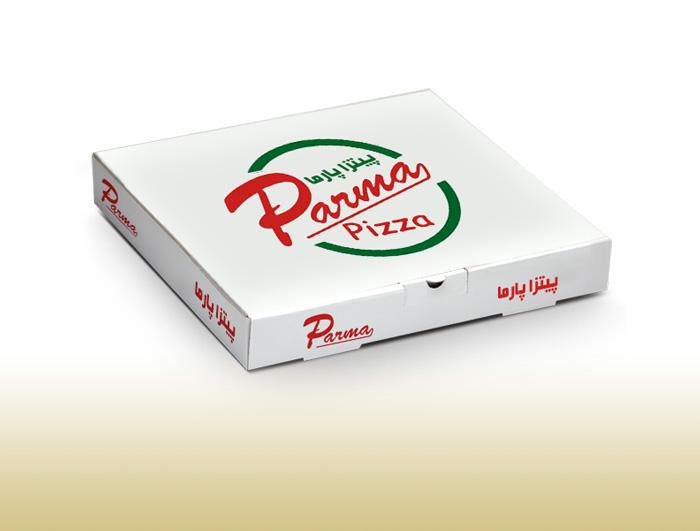 جعبه پیتزا 3 لایه سفید  |  TF - 1023