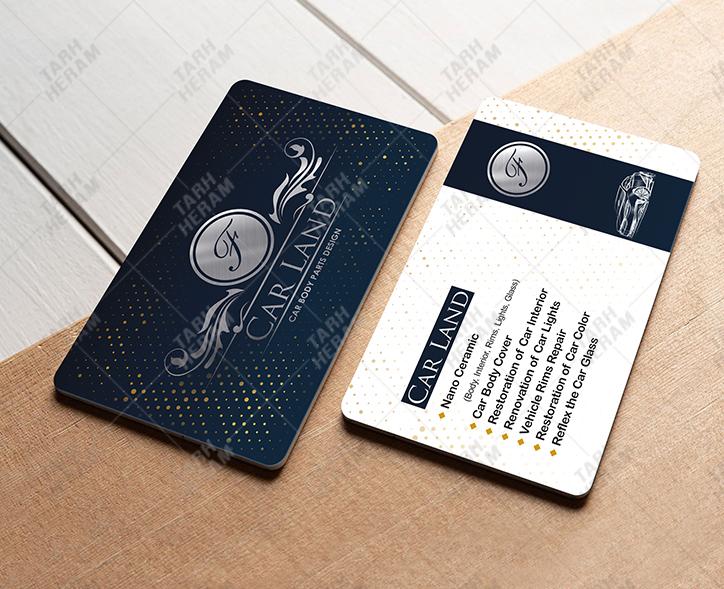 کارت ویزیت PVC نقره کوب | THV 5