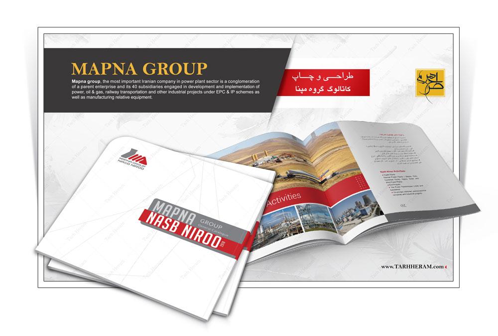 طراحی و چاپ کاتالوگ گروه مپنا - نصب نیرو