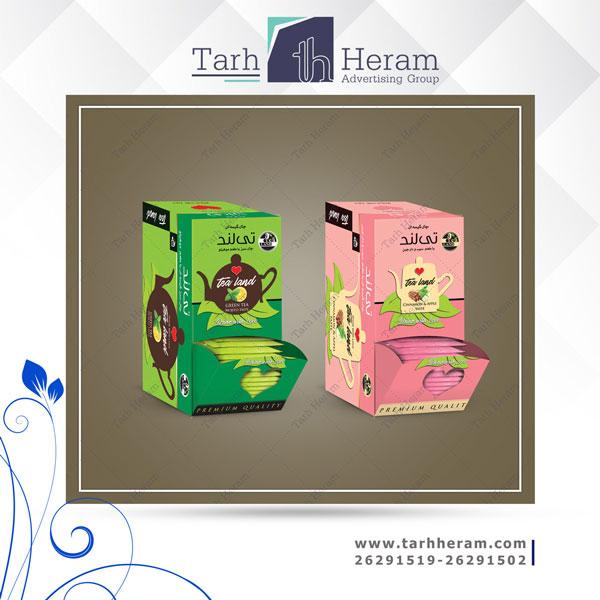 طراحی جعبه چای تی لند